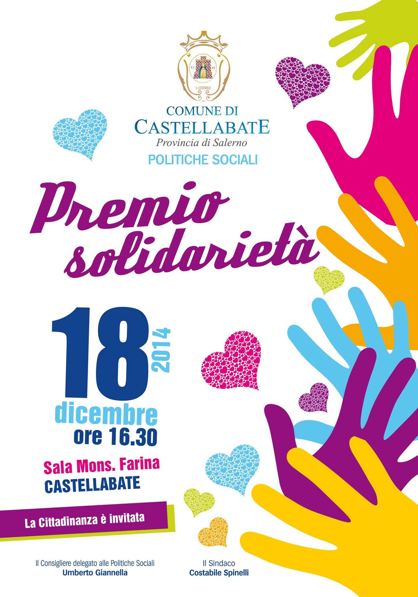 premio solidarieta 2014 castellabate