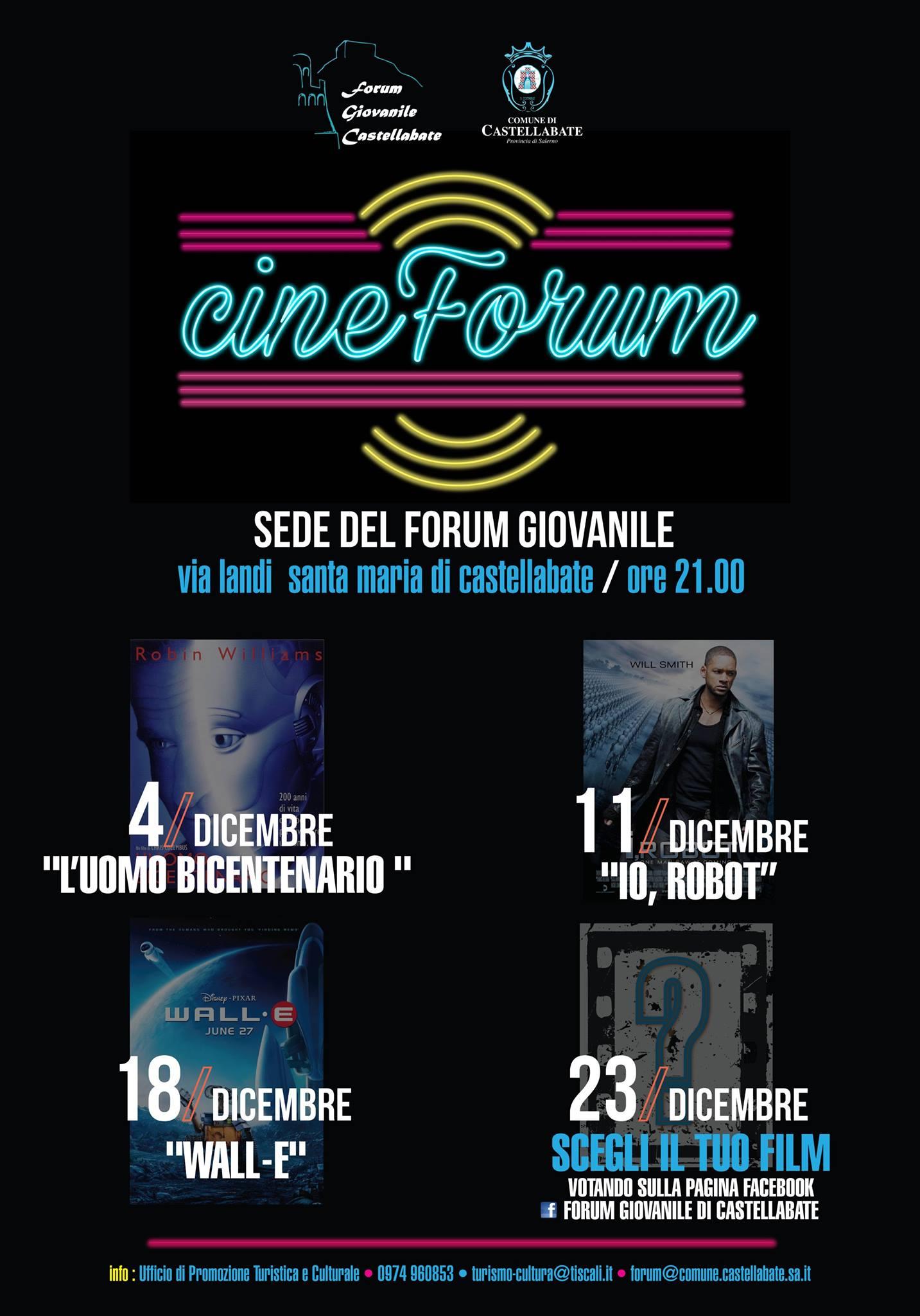 CineForum Dicembre 2015