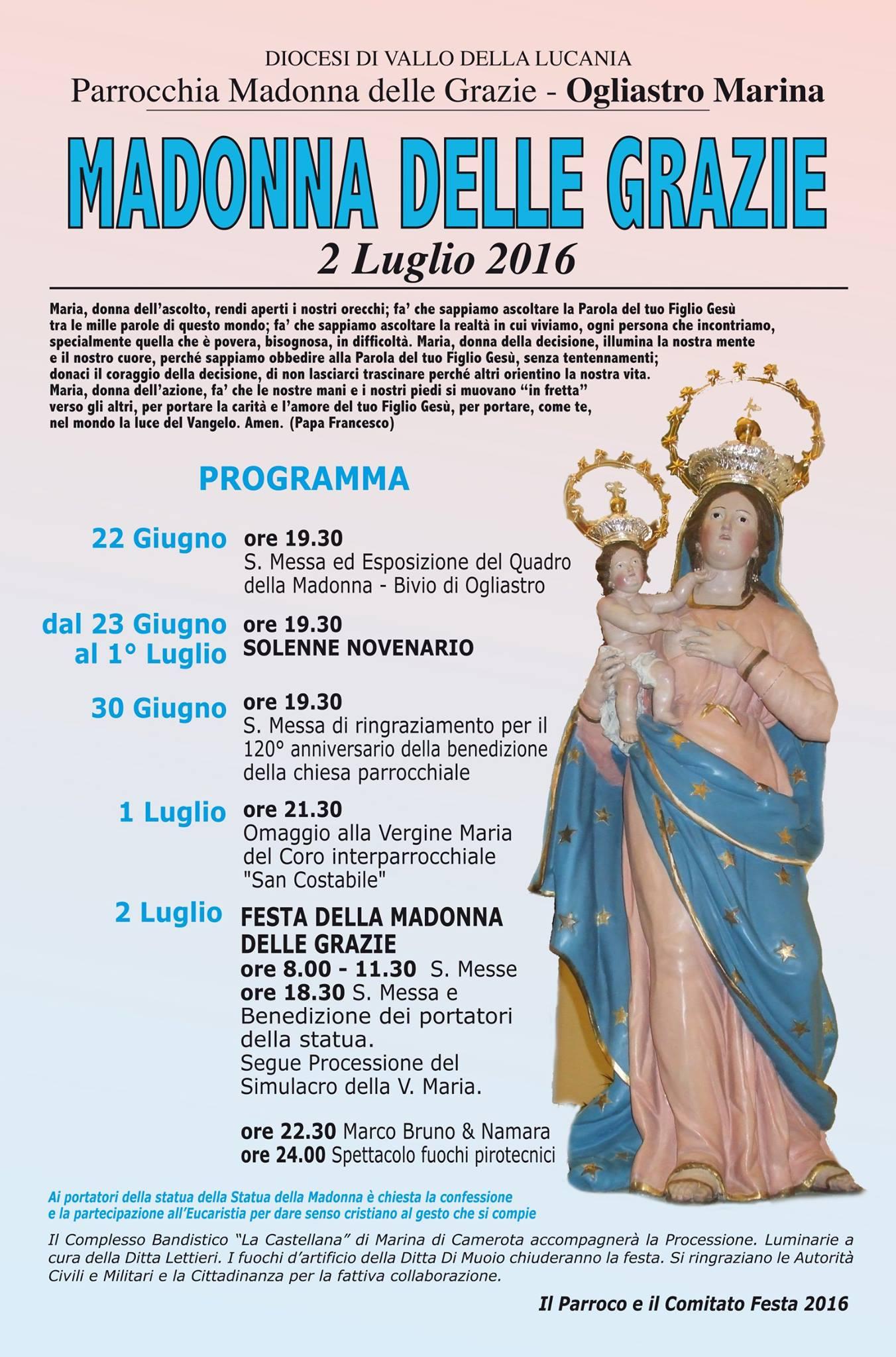 Festa madonna delle grazie 2016 castellabate