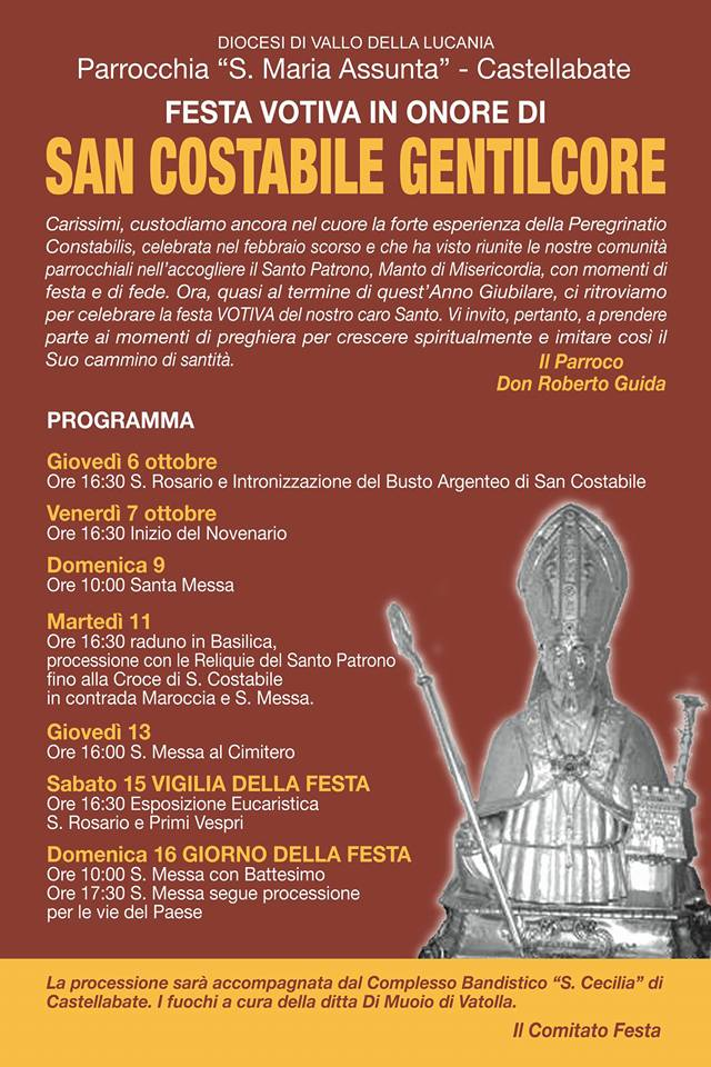 Castellabate Festa votiva di San Costabile Gentilcore 2016