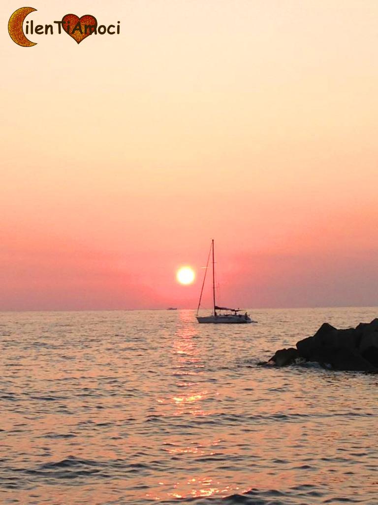 Barca al tramonto, Santa Maria di Castellabate